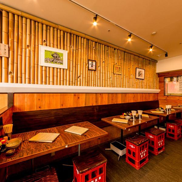 퇴근길이나 점심 시간에 한두 명 대환영 ☆ 테이블 석에서라면 만도 OK !!! 오다큐 선 연선에서 인기 하카타라면을 꼭 드세요 !!!