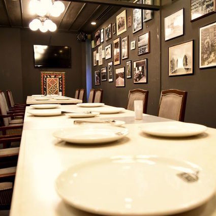 We also have a complete private room for up to 20 people.