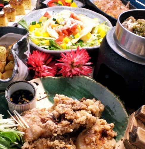 清爽和油炸的kamboa☆合理的☆【TORA鍋飯套餐】120分鐘,所有你可以喝6項3500→3000日元