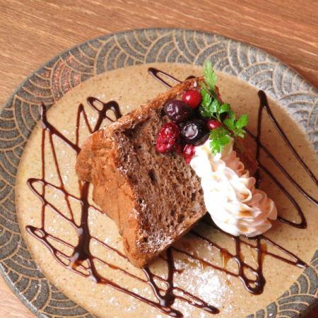 シフォンケーキのフルーツサンド