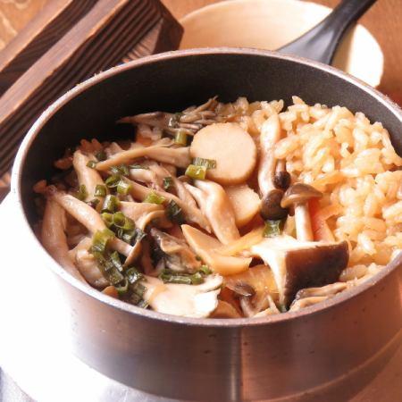 キノコバタ-釜飯