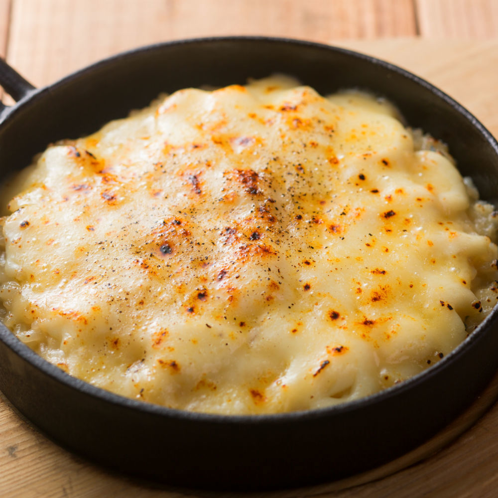 Cream risotto with raclette cheese