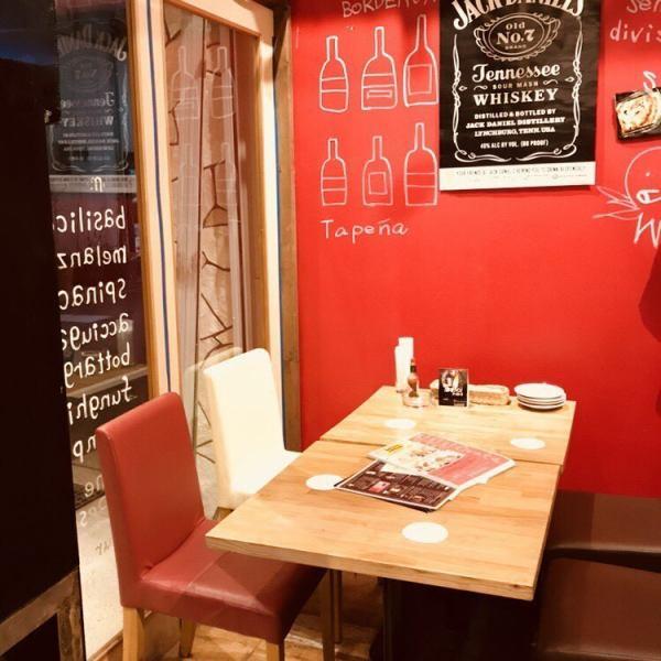 【テーブル席】人数に応じて変更可能なテーブル席が大人気!