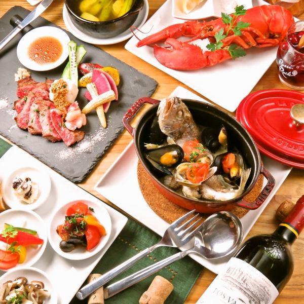 【イタリアンバル☆】石窯バルメニュー/PIZZA/パスタ/肉&海鮮料理/ストーブ/スィーツ等種類豊富♪