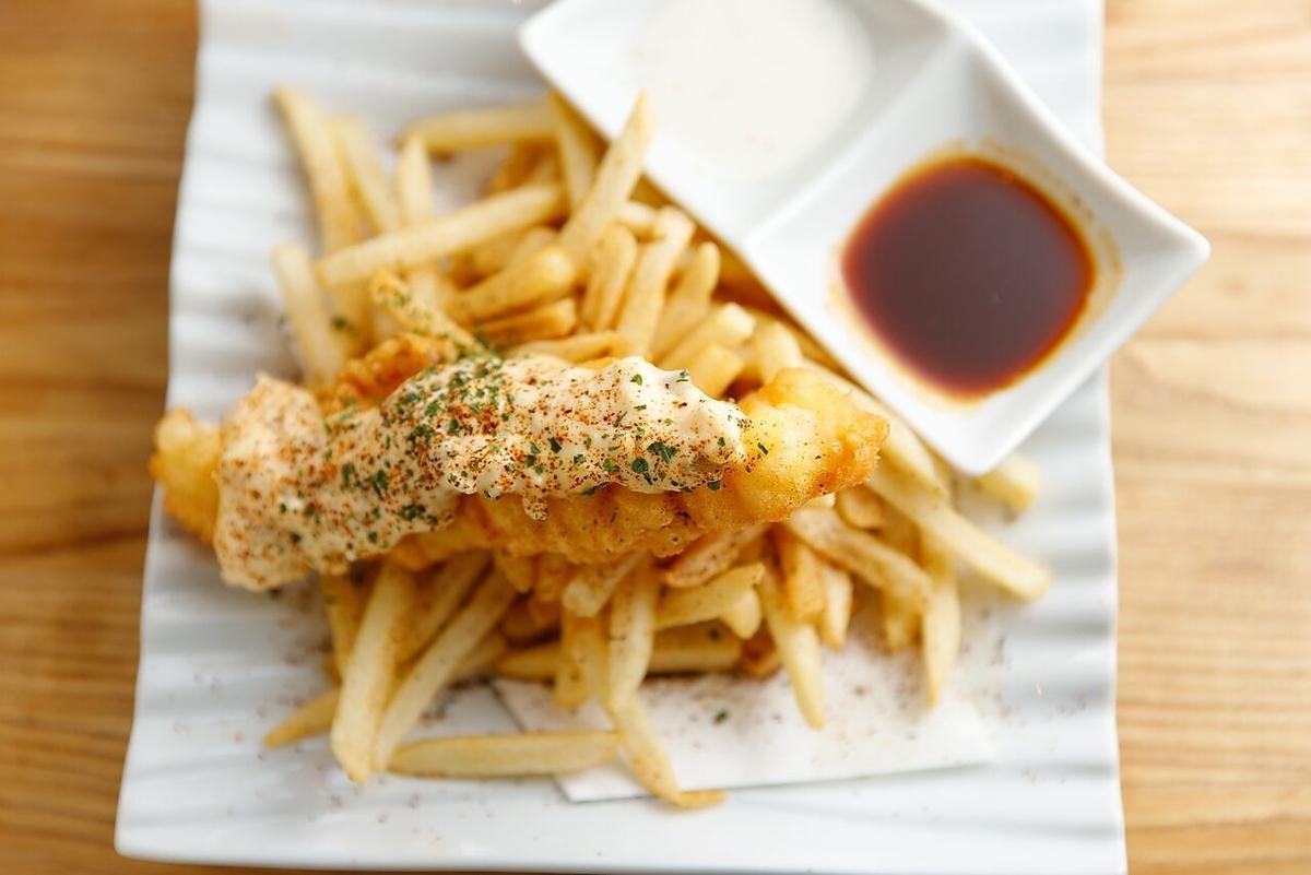 フィッシュ&チップス/明石の魚達と旬野菜のフリット盛り合わせ