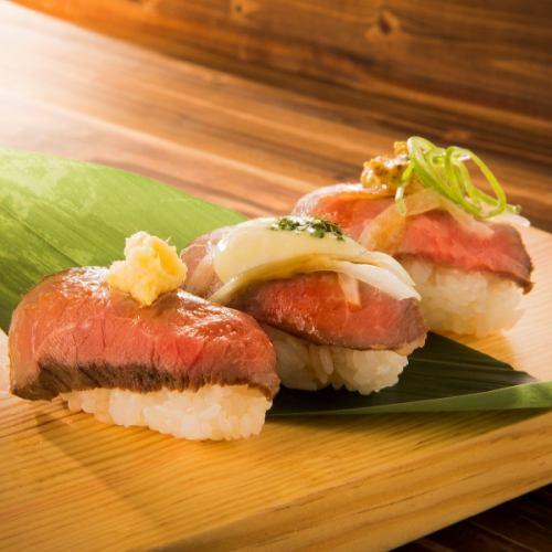 ローストビーフの肉寿司