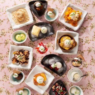 【ごちデザート!】季節のデザート+グランドメニューで常時約15種類あります!