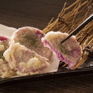 紅芋もちの天ぷら