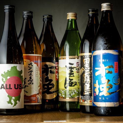 幻の焼酎・日本酒も豊富