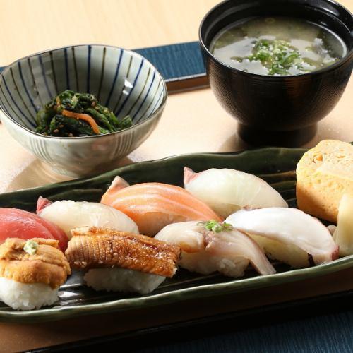 博多寿司御膳(小鉢・味噌汁付)
