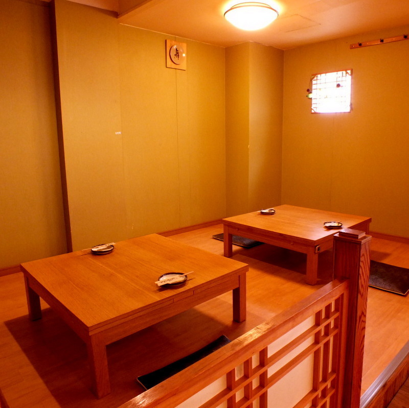 In the semi-private room at the Kurashiki, you can sit up to 12 people ♪