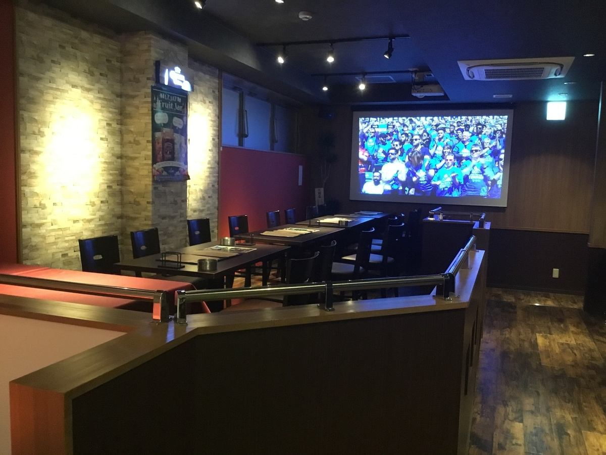 Authentic sports bar ☆ Watching sports on a large monitor ♪ WD Second party and party are GOOD!