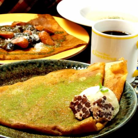 【Crepe Lee dinner 1800 yen + tax】 Course with appetizer + galette or main + crepe + drink