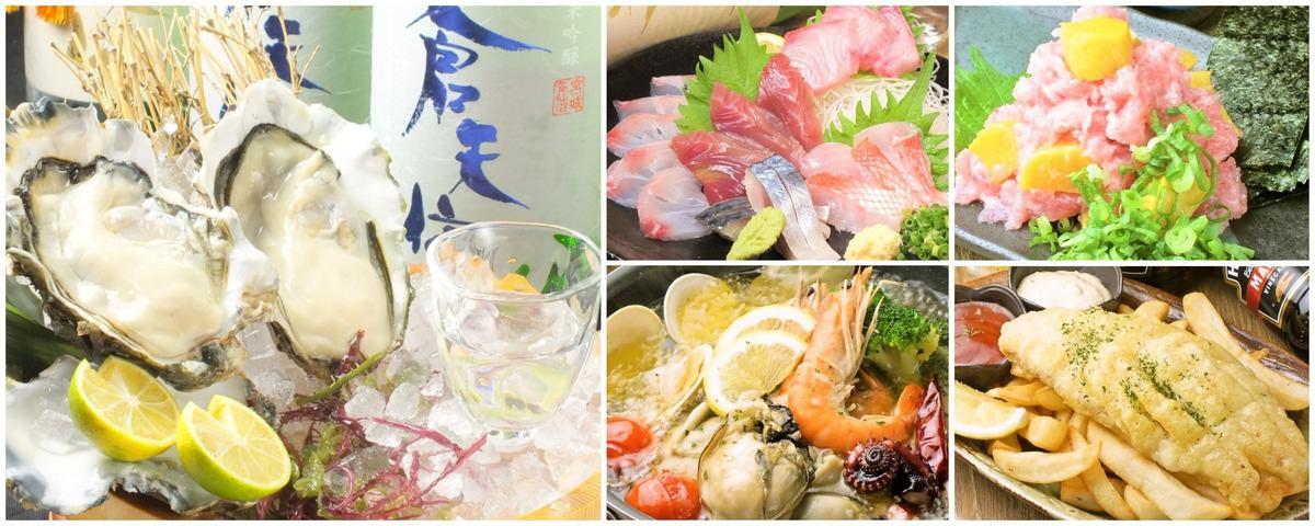 ドンマサは牡蠣だけにあらず!築地仲買人が厳選した鮮魚を直材直送でご提供!