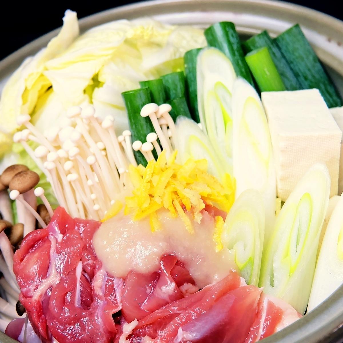 [냄비 봉행 특제] 닭 파 유자 소금 麹鍋