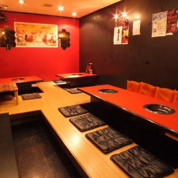 最大20名までご利用いただける個室。宴会や二次会や会合にご利用下さい。