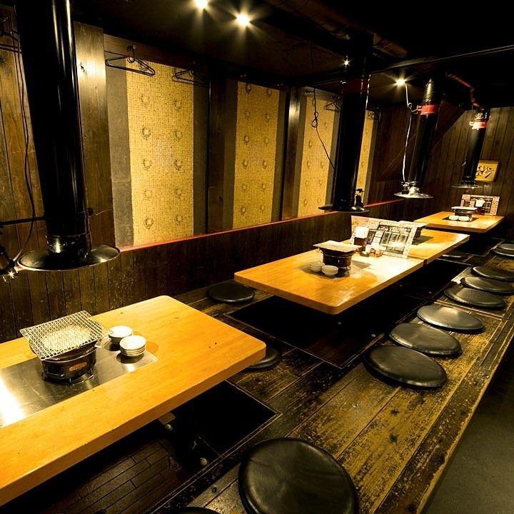 焼肉で宴会☆掘りごたつ座敷は最大26名様まで宴会可能!