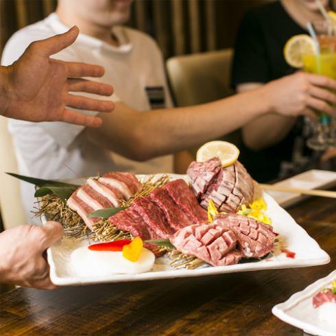所有你可以吃的课程,你可以充分享受精心挑选的肉90分钟所有你可以在眼睛的课程2480日元〜♪