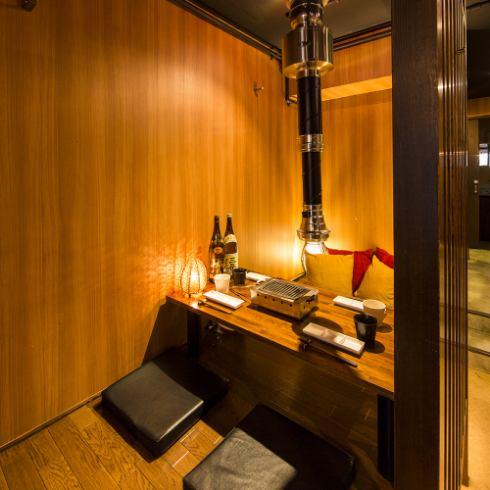 Matsusaka Wagyu为我们房间的私人房间感到自豪!也用于日期和周年纪念日使用◎