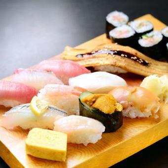 《土・日・祝日カウンター席限定》50種類以上の寿司60分食べ放題男性3700円/女性2700円(税別)