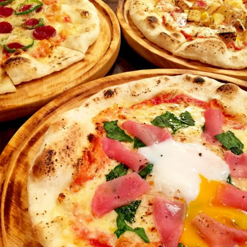 【From Sunday to Thursday only ★ Our all-you-can-eat pizza】 All-you-can-drink with soft drinks ♪ Combined with unlimited drinks OK!