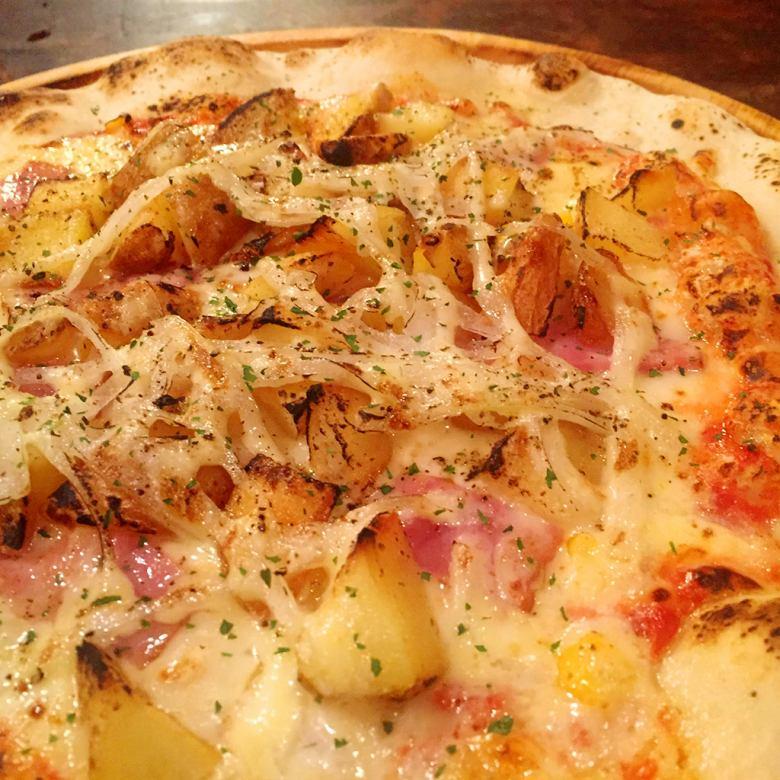 Bacon potato Mayo pizza