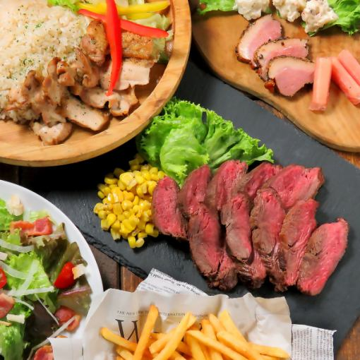 【Steak Fluency ★ Amebi Recovery】 Raw, Corona, Budweiser, All 140 cocktails with unlimited drinks 4000 yen