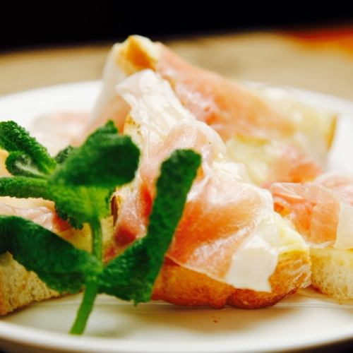 Prosciutto cheese toast