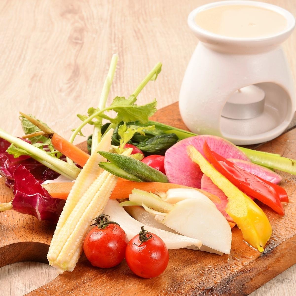 農園野菜のスペシャルバーニャカウダ