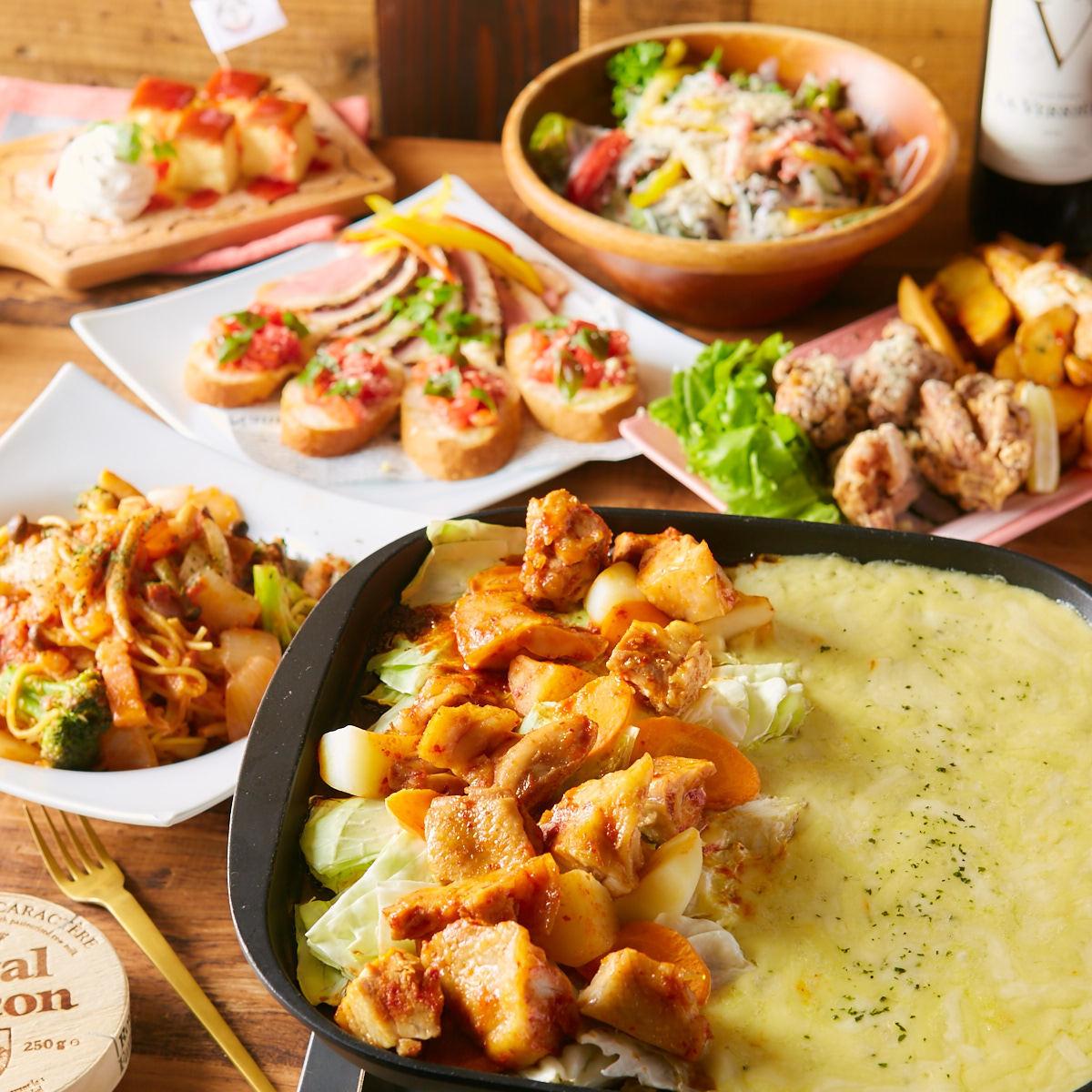 ランチ『スタンダードコース』肉×チーズ×野菜×スイーツ全てお楽しみいただけます!