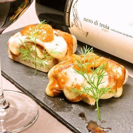 スカモッツァチーズのフォカッチャパン1個