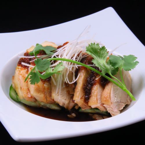 Boiled chicken with spicy sauce