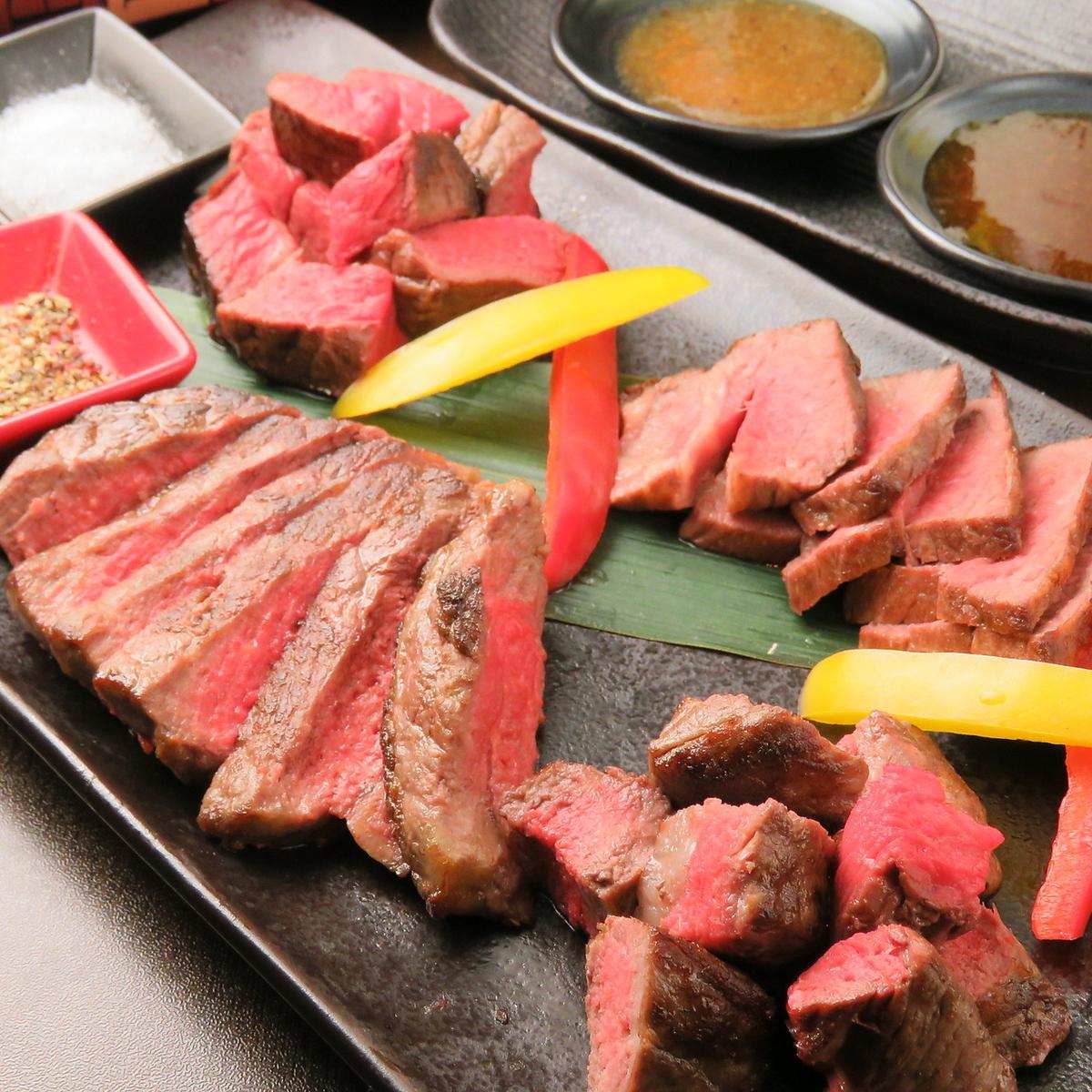 肉バルならではの赤身肉盛り合わせ。