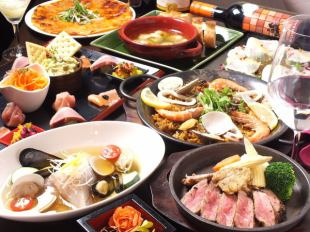 【◎ for various banquets】 ♪ luxurious free 2 great privileges ♪ Weekday 3 hours with all you can drink main meat & fish ♪ 12 items 4000 yen !!