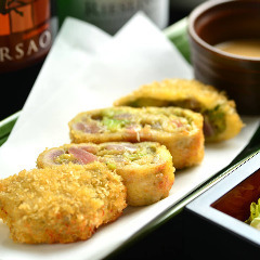 Cutlet of avocado and cutlet wasabi sauce