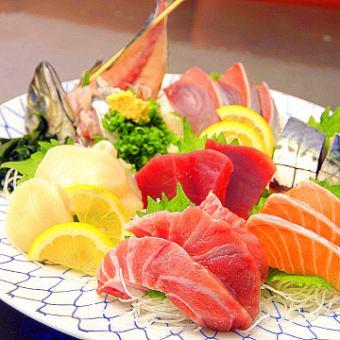 Random sashimi assorted with 5 points