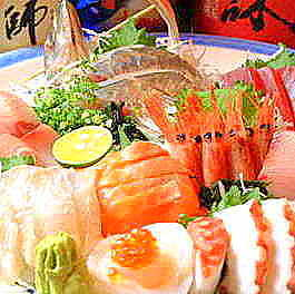 Random sashimi assorted with seven points
