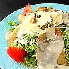 Caesar salad with 3 different cheeses