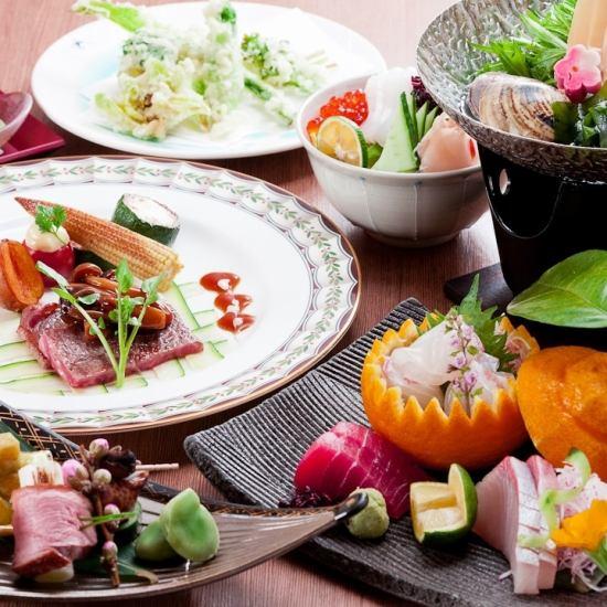 本格割烹料理を気軽に堪能。 慶事・法要の折り目正しい宴席から 賑やかな宴会にも♪