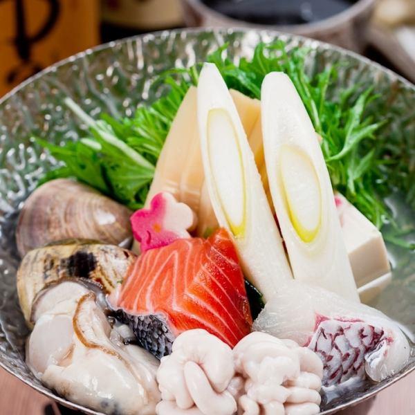 【宴会・パーティー】人気の桜コースです。3300円で季節の会席料理を! 季節の宴会メニュー≪全9品≫