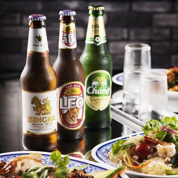 本格タイビールも充実のラインナップ♪お料理もドリンクも正に本場のタイにいるような気分になっちゃいます