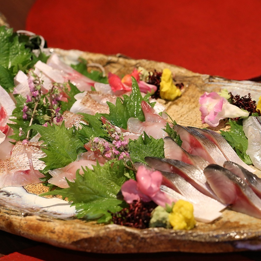 Assorted sashimi for the day of Keioji