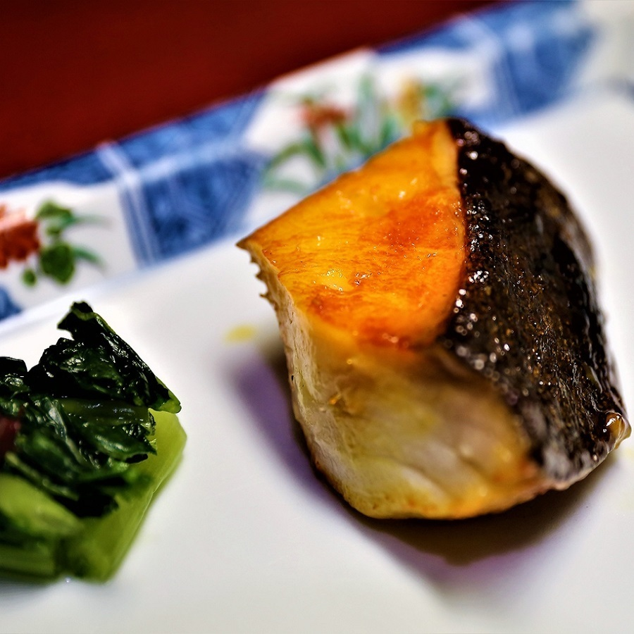 Grilled red miso with silver doll