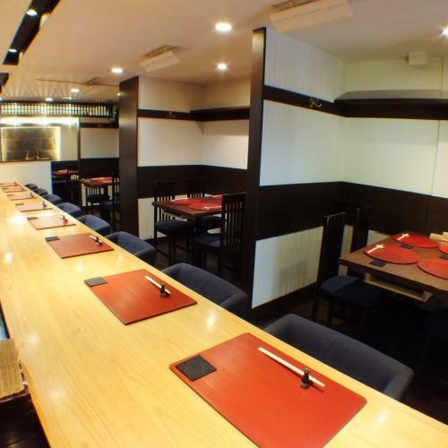落ち着いた大人の隠れ家。美味しい日本酒・焼酎と共に職人の「旨さ」に舌鼓下さい。