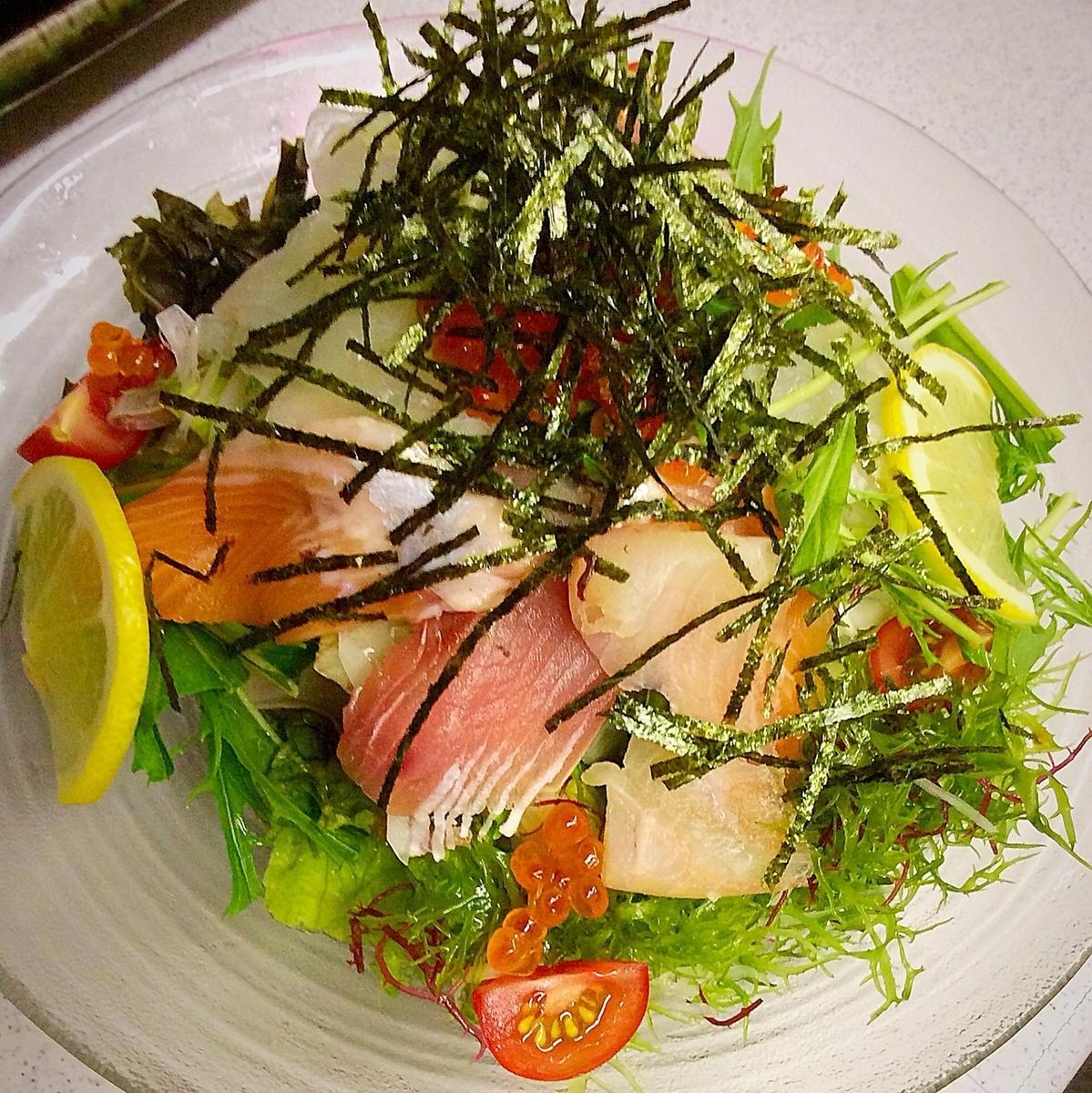 海藻沙拉用胶水