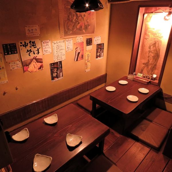 A semi-private room of digging.The light of the darkness just blurry in the table of good feeling of distance is strangely calm (up to 8 people)