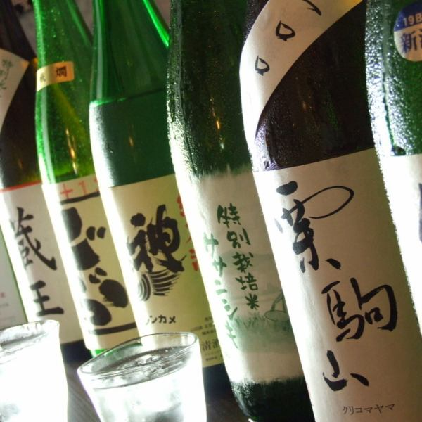 Various local sake and authentic shochu selected carefully are available.
