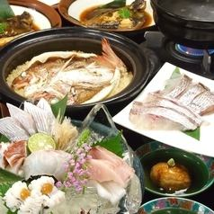 "【The most popular course】 90 minutes drinking and drinking, all 10 items fresh fish 5 kinds of soup · natural sea bream with attached ""Akashi course"" 5000 yen (tax excluded)"