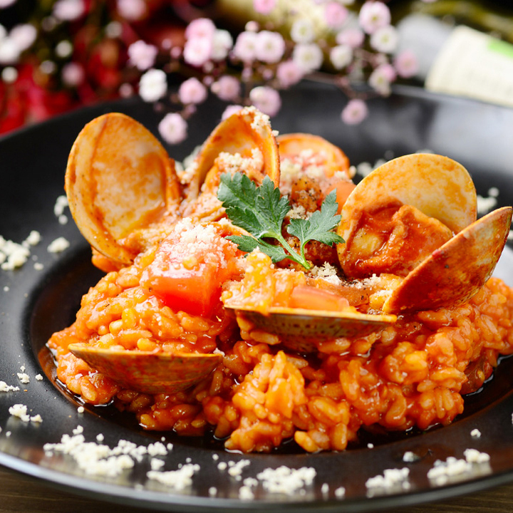 Clams tomato risotto