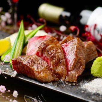 """""""11  -  1月""""【所有你可以喝】3小時牛肉沙朗牛排等【豪華套餐】共9項·5980日元(含稅)"""